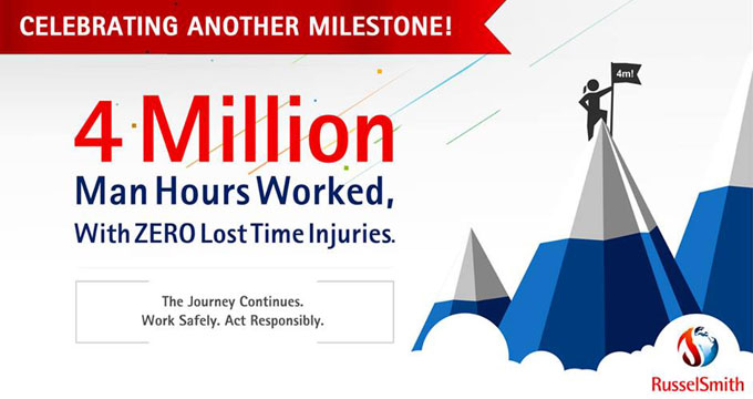 RusselSmith Achieves 4 Million Man Hours Of Operation With Zero LTIs