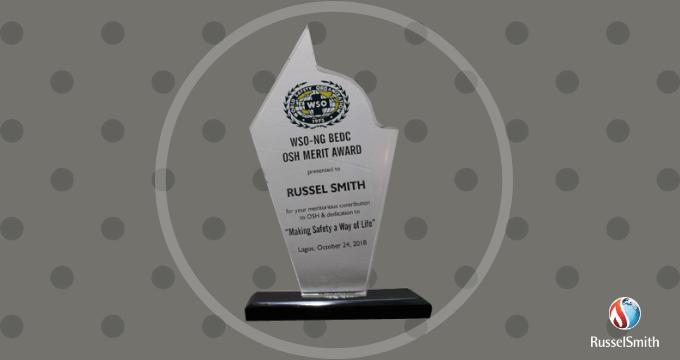 RusselSmith Bags WSO-NG BEDC OSH Merit Award