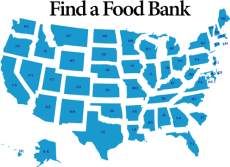 food bank map