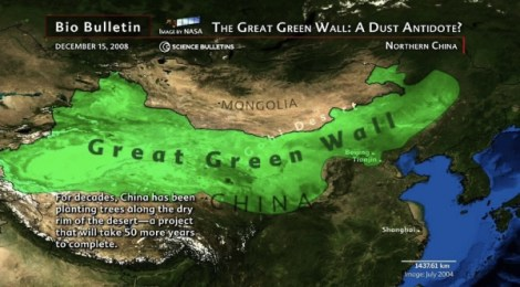 Green Walls Push Back Deserts And Dustbowls