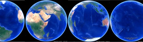 Earth_BluePlanet_4Views