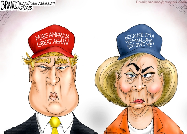Image result for images, trump good, hillary evil