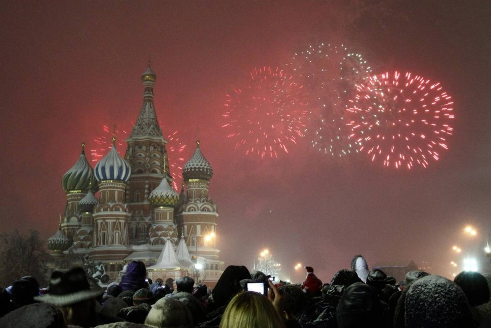 New Year Moscow Russia