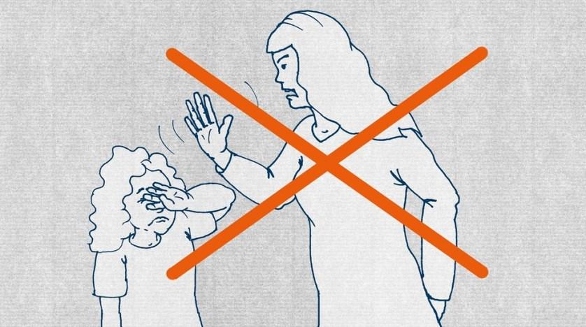 Нет побоям! Дети чужих родителей или свои собственные не должны подвергаться побоям. Это запрещено в Германии.