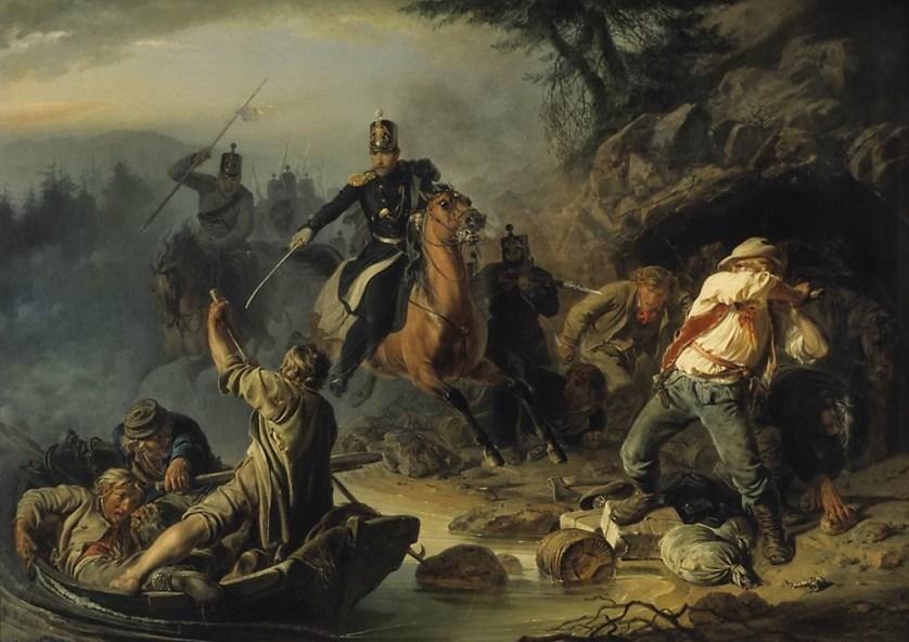 Vasily Khudyakov. Skirmish with Finnish Smugglers.