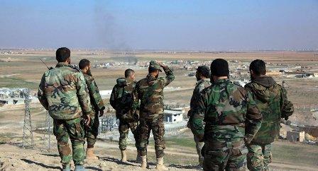 Сирийские военные в провинции Ракка