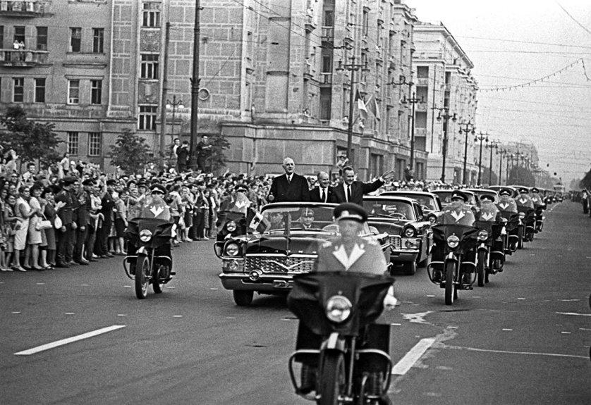 Визит президента Франции Шарля де Голля в СССР. Июнь 1966 года