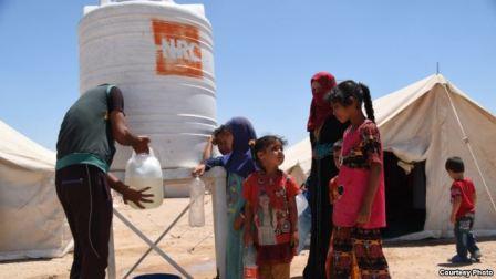 Лагерь беженцев под Фаллуджей.