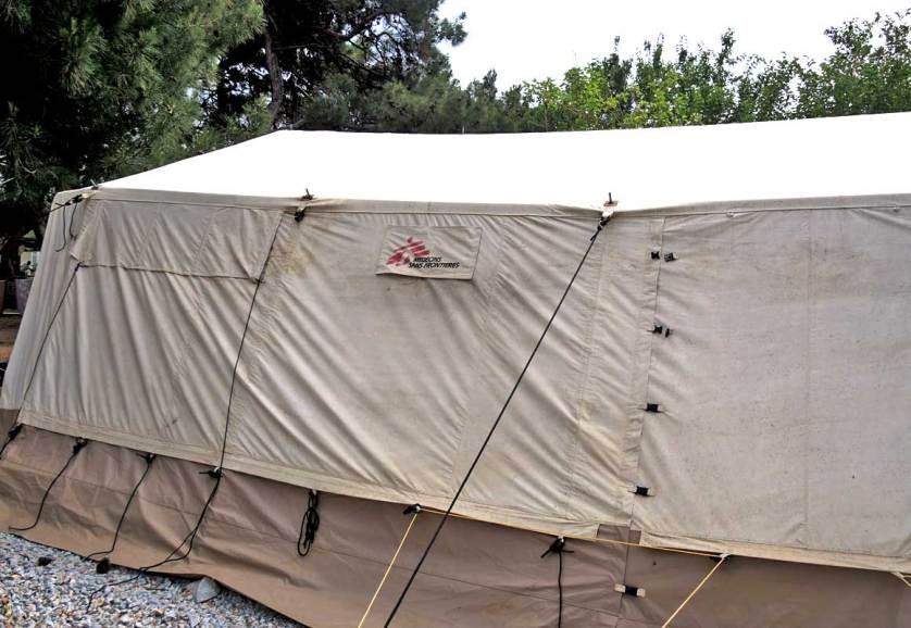 Пустая палатка «Врачей без границ» в лагере для больных и раненых беженцев «Солидарность», где за полгода не появилось ни одного врача