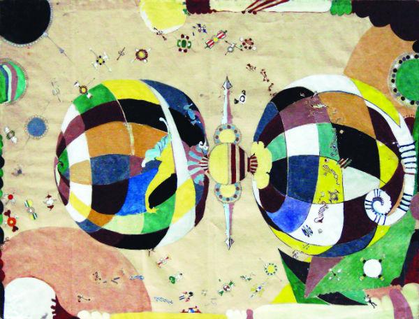Eugene Gabritschevsky, Untitled, 1950, gouache on paper, 48 x 63 cm.