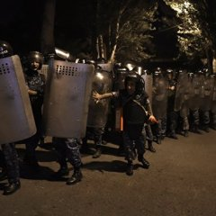 45 people hospitalized after clashes between protesters and police in Yerevan