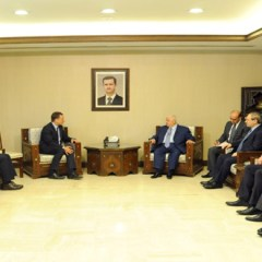 Al-Moallem and UNRWA chief stress continued cooperation to support Palestinian refugees