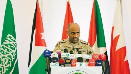 Представитель арабской коалиции, бригадный генерал Ахмед Асири