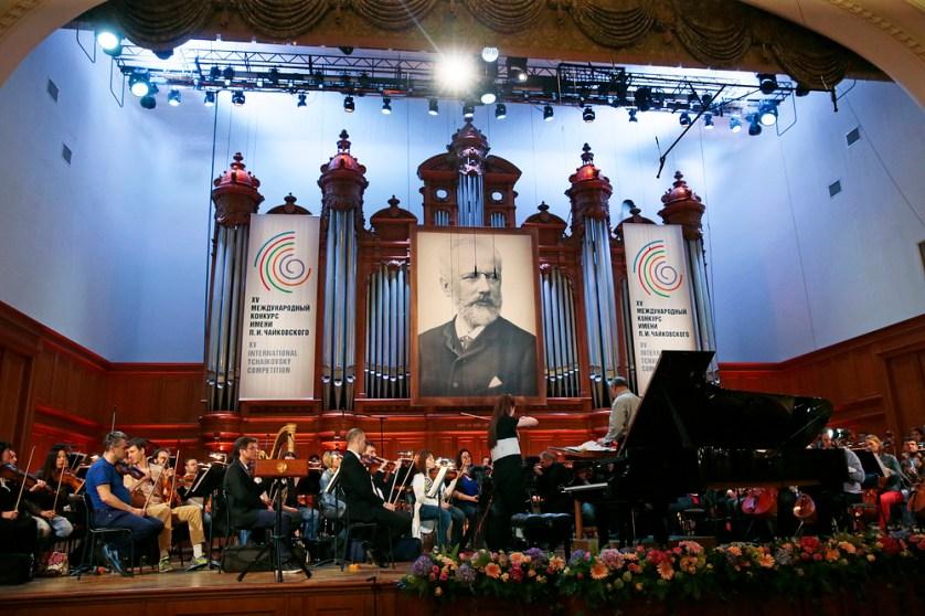 MOSCOW, RUSSIA. JULY 2, 2015. Musicians rehearsing seen ahead of a gala concert by laureates of the 15th International Tchaikovsky Competition in the Moscow Conservatory's Grand Hall. Mikhail Metzel/TASS Ðîññèÿ. Ìîñêâà. 2 èþëÿ 2015. Ðåïåòèöèÿ ïåðåä íà÷àëîì òîðæåñòâåííîãî ãàëà-êîíöåðòà ëàóðåàòîâ XV Ìåæäóíàðîäíîãî êîíêóðñà èìåíè Ï.È.×àéêîâñêîãî â Áîëüøîì çàëå Ìîñêîâñêîé êîíñåðâàòîðèè. Ìèõàèë Ìåòöåëü/ÒÀÑÑ