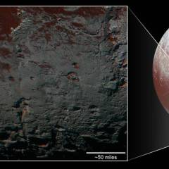 Pluto's Methane Snowcaps on the Edge of Darkness