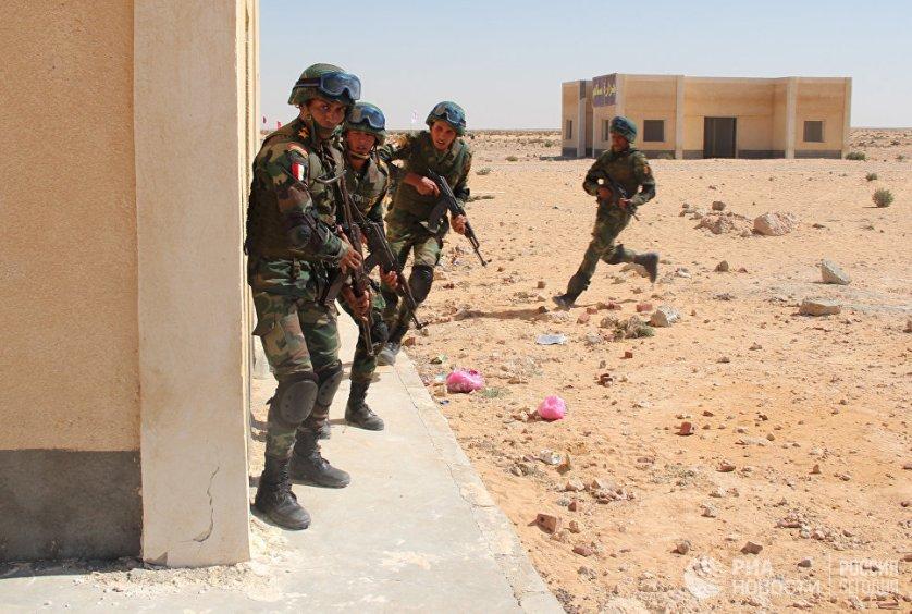 Российские десантники накануне поделились с египетскими коллегами опытом боевой подготовки и штурма зданий в ходе учебного боя в населенном пункте.