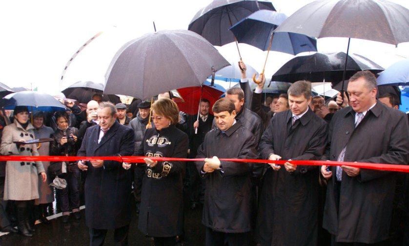 В пятницу состоялась торжественная церемония открытия центрального участка внутригородской скоростной магистрали.