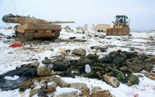 Экстремисты утверждают, что Турция за один день потеряла 70 военных и три современных танка