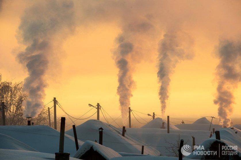 Рассвет в городе Тара Омской области.