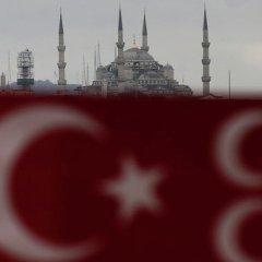 Турецкий корабль в бушующем океане Ближнего Востока