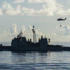 Американский ракетный крейсер сел на мель у берегов Японии