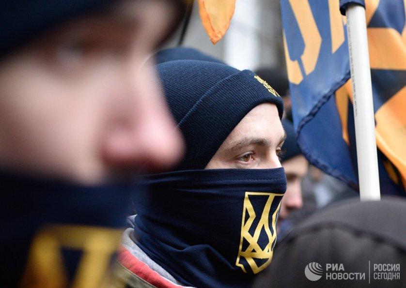 Центр Киева был взят под усиленный контроль силовиков в связи с проведением 18-22 февраля нескольких массовый акций в честь годовщины Евромайдана.