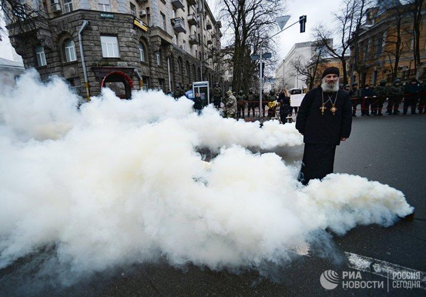 Митинг националистических организаций в центре Киева.