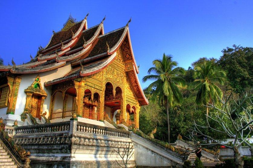 Город в Лаосе Луангпхабанг.