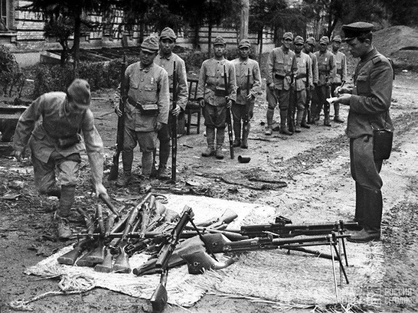 Поражение японцев на Дальнем Востоке: капитуляция войск Квантунской армии в ходе Маньчжурской операции. 20 августа 1945 года.