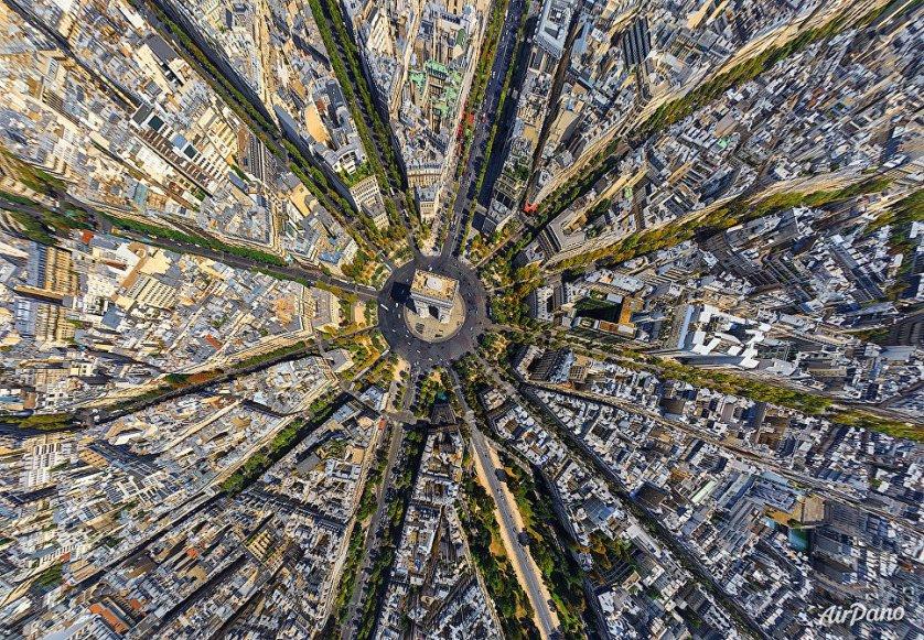 Париж с высоты птичьего полета.
