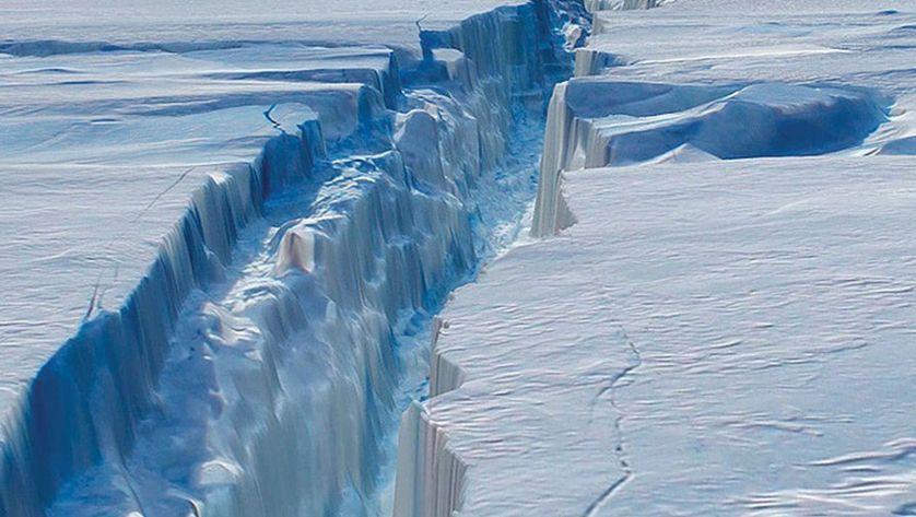 Километры ледников в Антарктиде обрушиваются в море