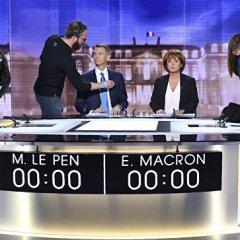 Во время дебатов Ле Пен обогнала Макрона в соцсетях, но уступила по опросам