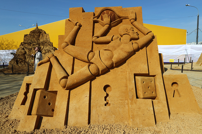 World Championship of Sand Sculpting in Moscow