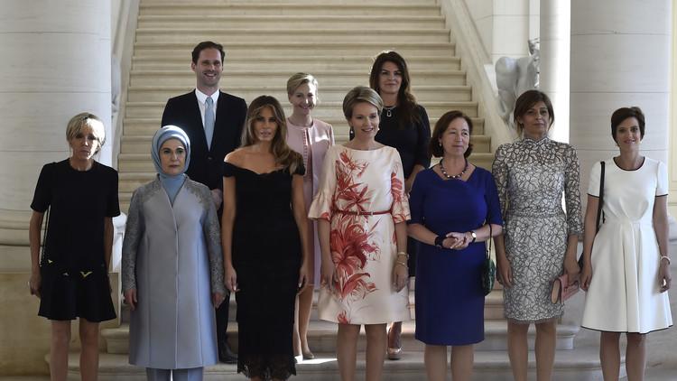 ما قصة الرجل الذي ظهر في صورة زوجات زعماء الناتو؟!