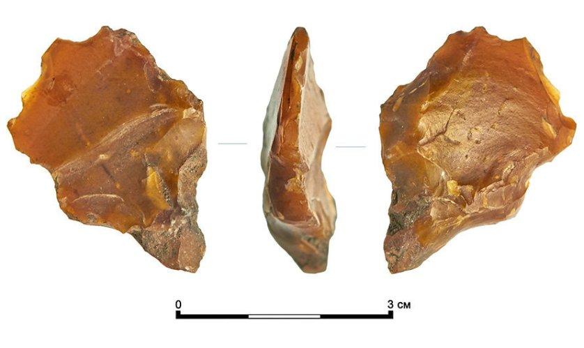 Кремниевый резец эпохи неолита, найденный на Сретенке