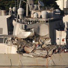 Американские военные назвали имена погибших на эсминце Fitzgerald моряков