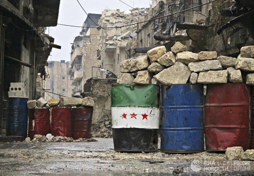 Освобожденный квартал восточного Алеппо. Сирия, 13.12.2016.