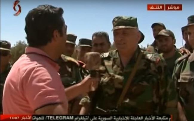 Сирийские правительственные войска на границе с Ираком