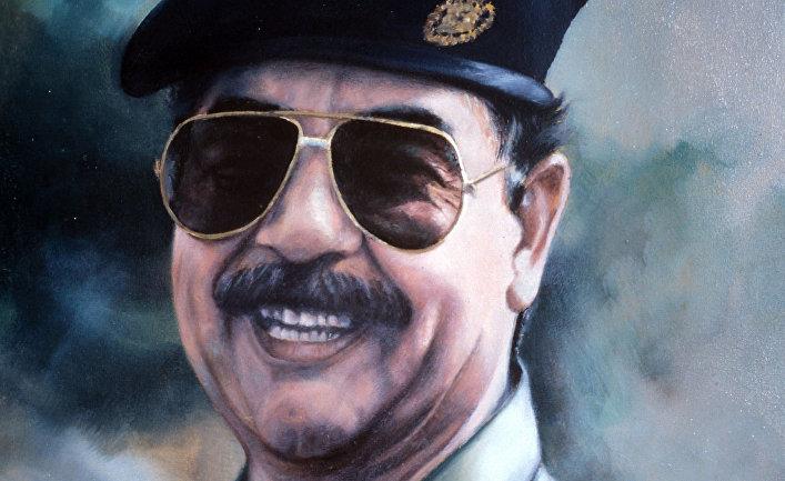 Портрет Саддама Хусейна
