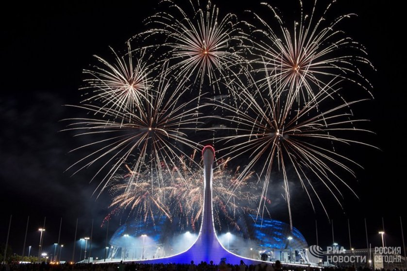 Отборочный этап Мирового чемпионата фейерверков в Олимпийском парке в Сочи.