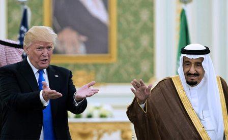 Президент США Дональд Трамп и король Саудовской Аравии Салман ибн Абдул-Азиз аль-Сауд
