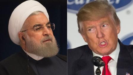 Президенты Ирана Хасан Роухани и США Дональд Трамп