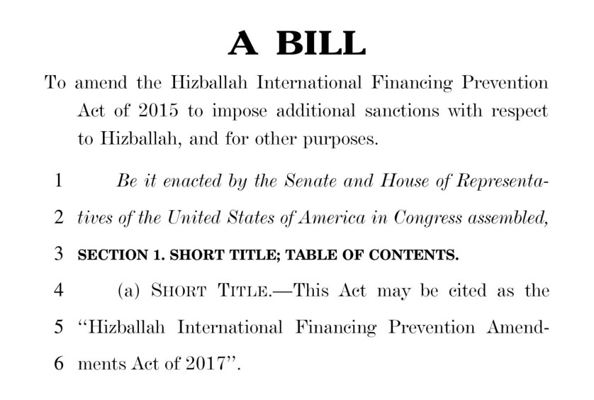 Hizballah International Financing Prevention Amendments Act of 2017 FM