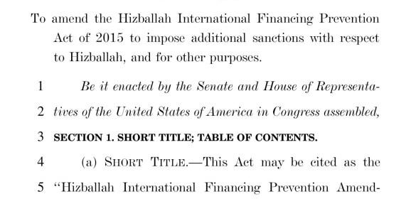 Hizballah International Financing Prevention Amendments Act of 2017 FM