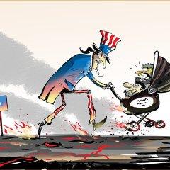 """العم سام ينقذ """"أطفاله"""" من المطرقة السورية الروسية في دير الزور"""