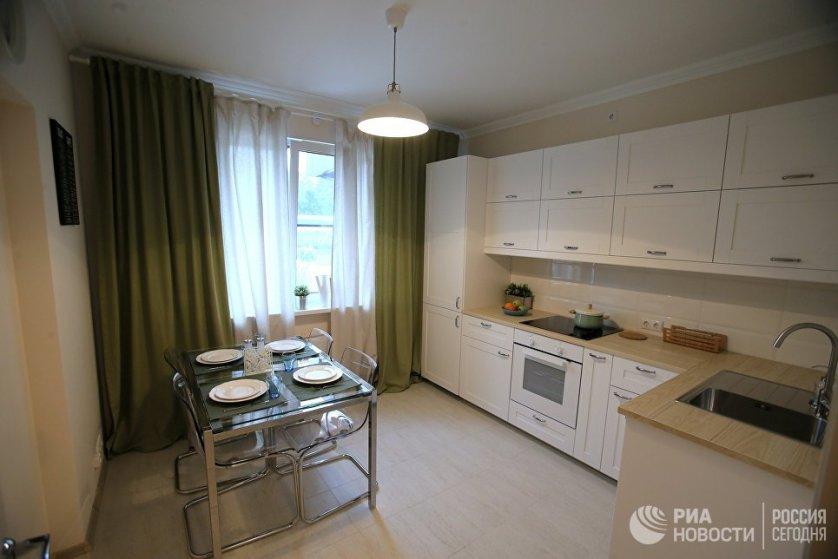 Кухня типовой 1-комнатной квартиры, предназначенной для переселения по программе реновации.