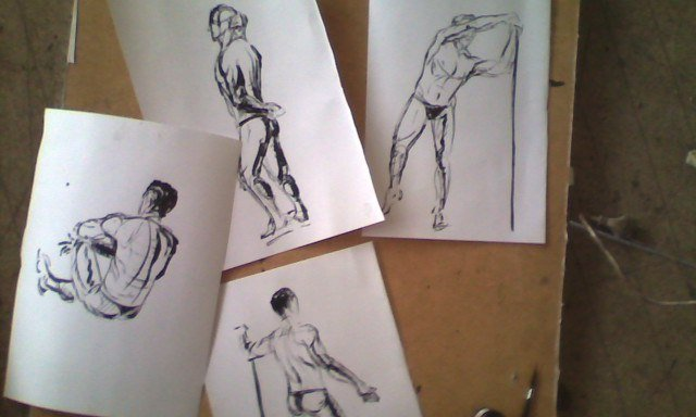 Рисунки с изображением Станислава Ратникова
