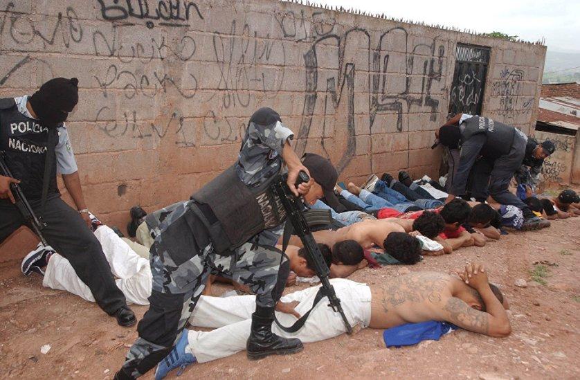 Задержание членов MS-13 полицией