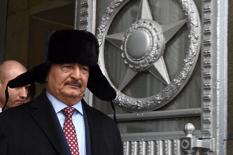 29 ноября 2016. Командующий национальной армией Ливии Халифа Хафтар после встречи с министром иностранных дел России в Москве.