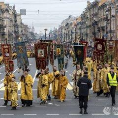 Крестный ход в честь Александра Невского в Санкт-Петербурге
